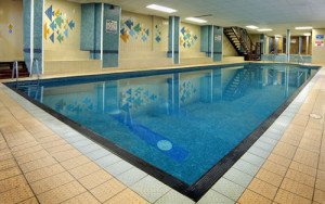 Indoor pool at the Riviera Hotel