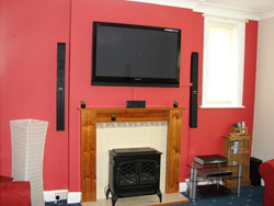 Giant plasma screen with cinema style surround sound Tracy Ann House